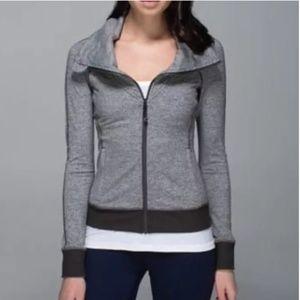 Lululemon Be Present Jacket Heathered Dark Wren